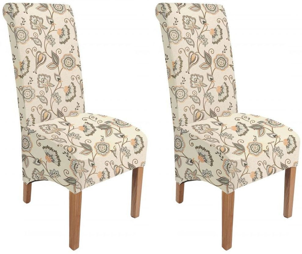 Shankar Krista Deco Fabric Dining Chair - Spice (Pair)