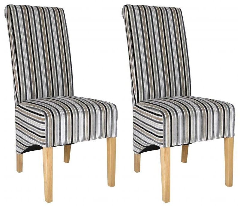 Shankar Krista Jupiter Dining Chair - Silver (Pair)