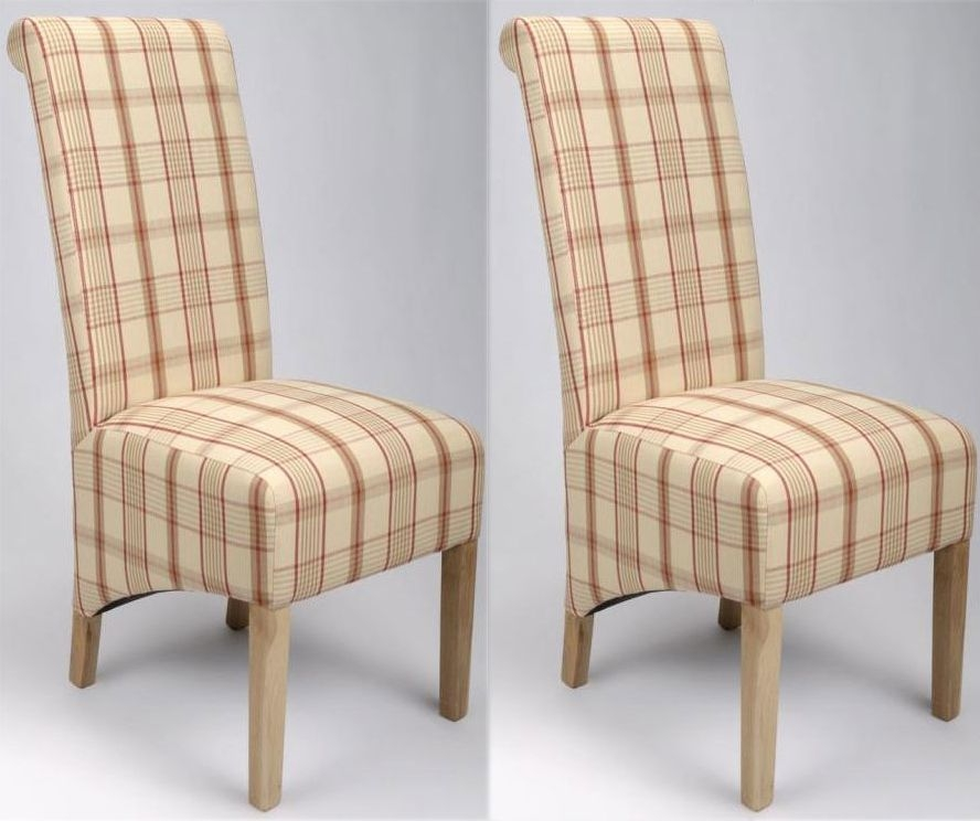 Shankar Krista Rupert Dining Check Chair (Pair)