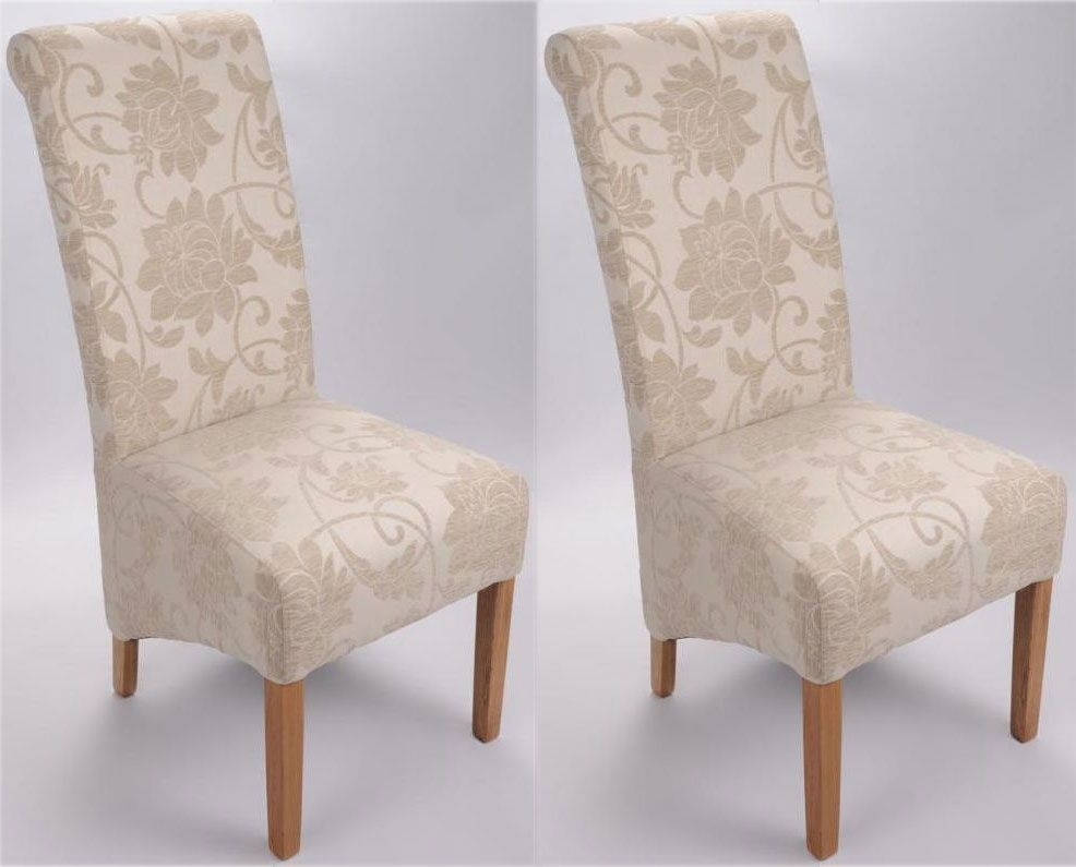 Shankar Mia Floral Dining Chair - Cream (Pair)