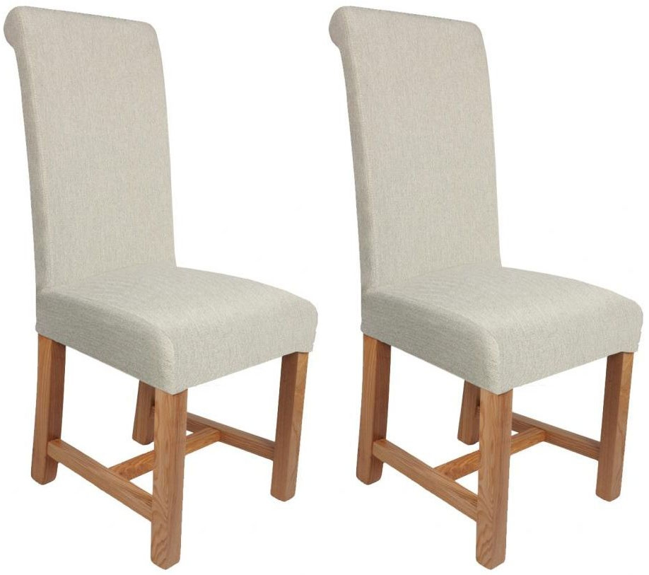 Shankar Richmond Herringbone Plain Dining Chair - Cappuccino (Pair)