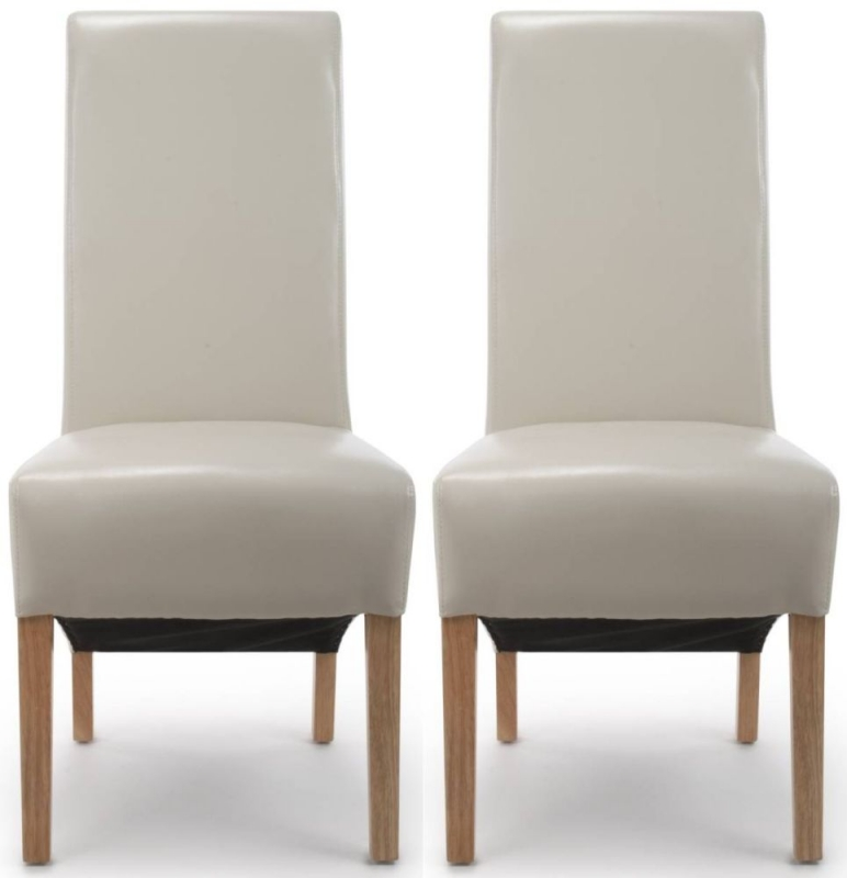 Shankar Krista Ivory Bonded Leather Accent Dining Chair (Pair)