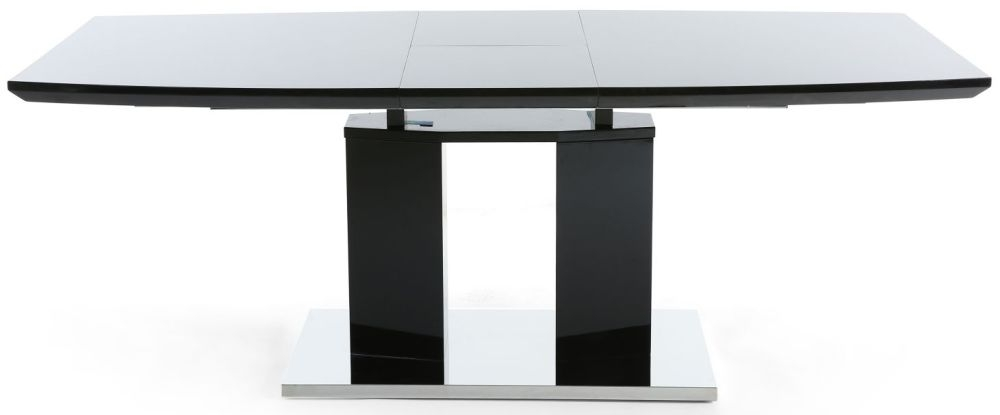 Shankar Liberty Black High Gloss Rectangular Extending Dining Table - 160cm-200cm