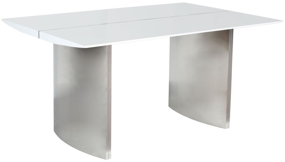 Shankar Luna White High Gloss Rectangular Dining Table - 150cm