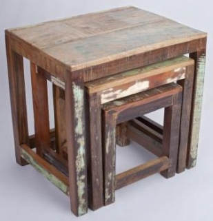 Shankar New England Reclaimed Nest of Tables