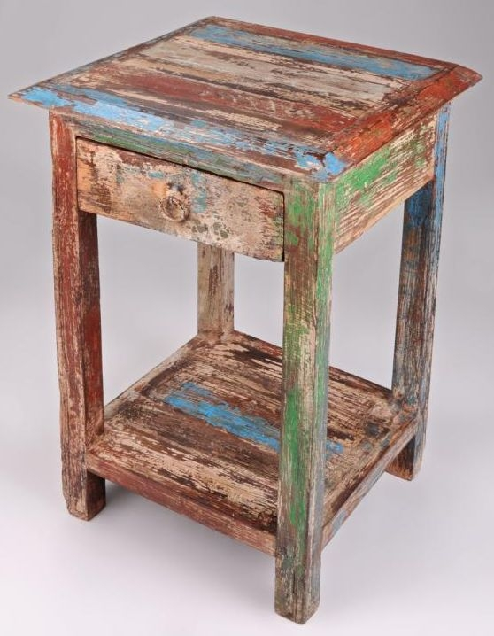 New England Reclaimed Side Table