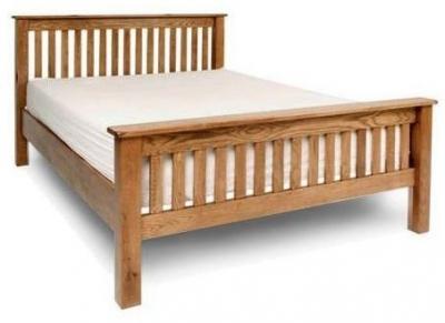 Shankar Oakly Rustic 5ft King Size Bed