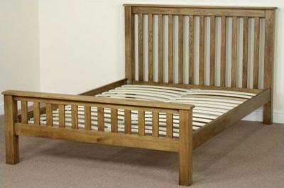 Shankar Oakly Rustic Bed