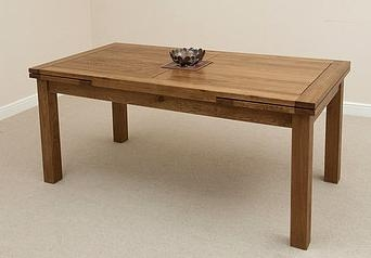 Shankar Oakly Rustic Dining Table - 1.5m Fixed