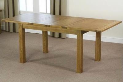 Shankar Oakly Rustic Dining Table - 1.8m Extending
