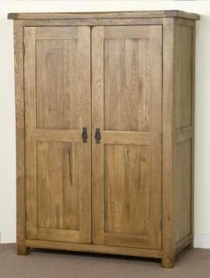 Shankar Oakly Rustic Gents Wardrobe - 2 Door