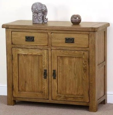 Shankar Oakly Rustic Sideboard - 2 Door 2 Drawer