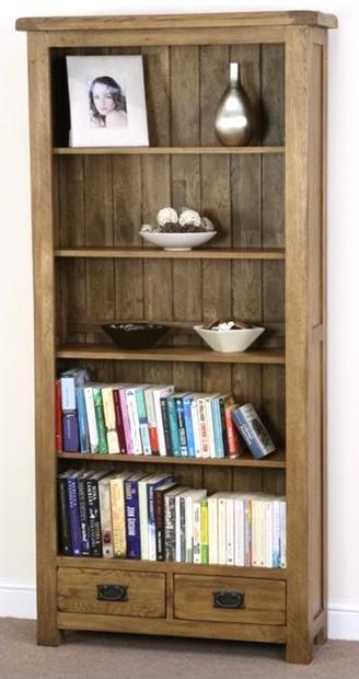 Shankar Oakly Rustic Bookcase - 2 Drawer