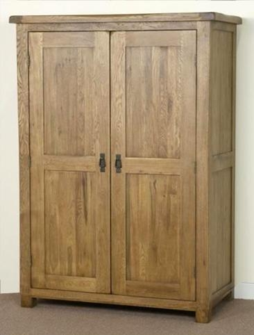 Shankar Oakly Rustic Gents Wardrobe - 2 Door