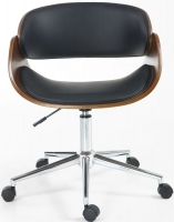 Shankar Black Okka Office Chair with Chrome Base