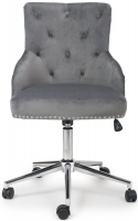 Shankar Rocco Grey Brushed Velvet Office Chair