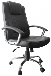 Shankar Anaheim Leather Match Office Chair - Black