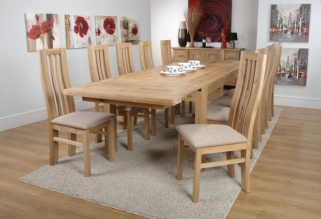 Shankar Phoenix Oak Dining Table - Extra Large