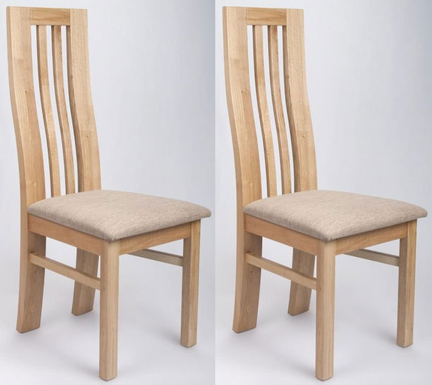 Buy shankar phoenix oak dining chair pair online cfs uk for Oak dining chairs