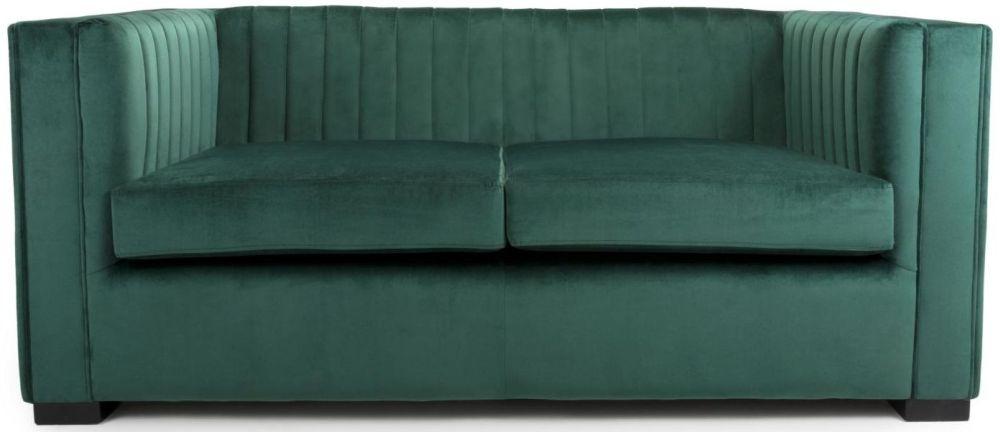 Shankar Victoria Green Brushed Velvet 2 Seater Sofa