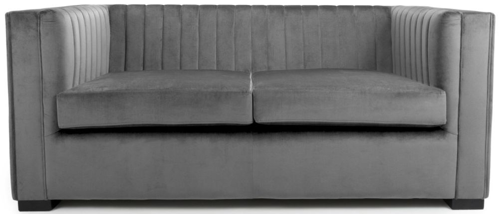 Shankar Victoria Grey Brushed Velvet 2 Seater Sofa