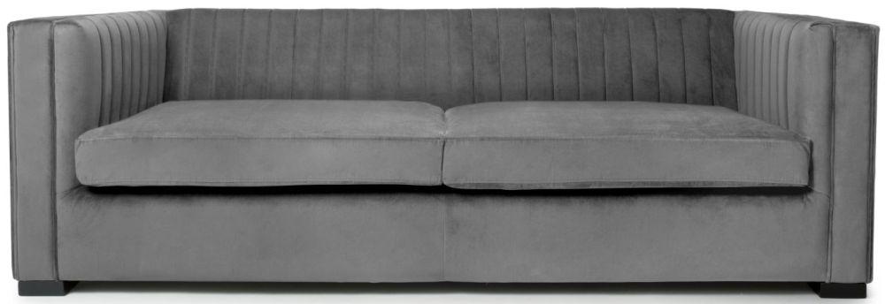 Shankar Victoria Grey Brushed Velvet 3 Seater Sofa