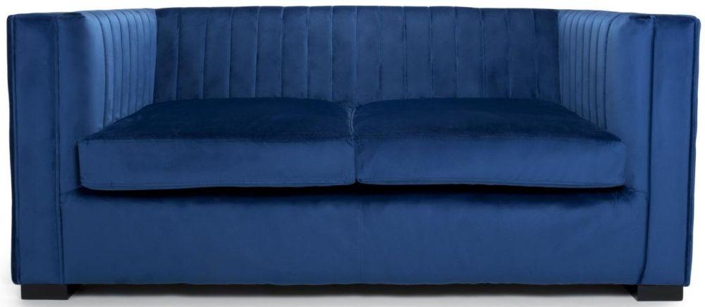 Shankar Victoria Ocean Blue Brushed Velvet 2 Seater Sofa