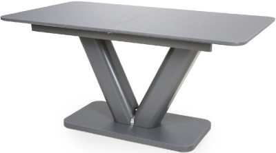 Shankar Venus Grey Tempered Glass 160cm-200cm Extending Dining Table