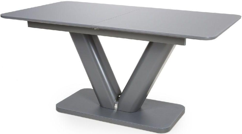 Shankar Venus Grey Tempered Glass 160cm-200cm Extending Dining Table