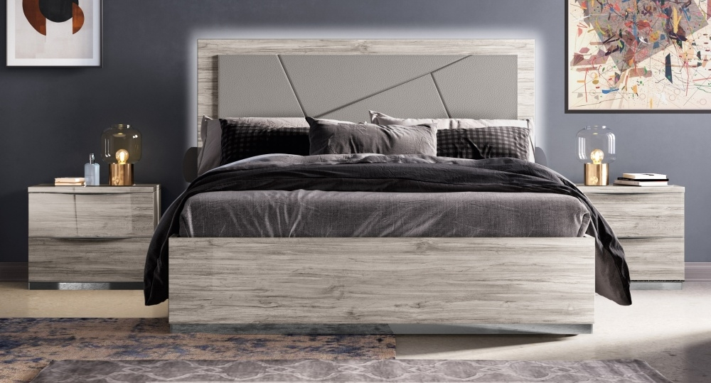 Laura Grey Italian Bed with Storage