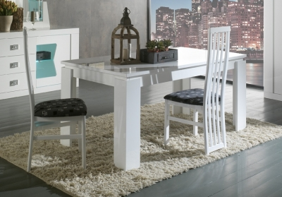 Ribera White Italian Extending Dining Table and 4 Chair