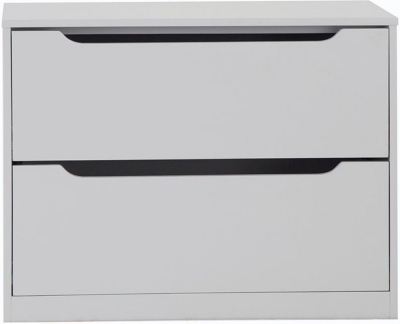 Annecy Soft Grey Painted 2 Drawer Chest