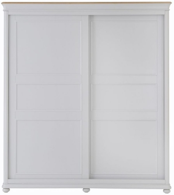 Annecy Oak and Soft Grey Painted 2 Door Sliding Wardrobe
