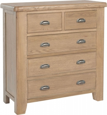 Hatton Oak 2+3 Drawer Chest