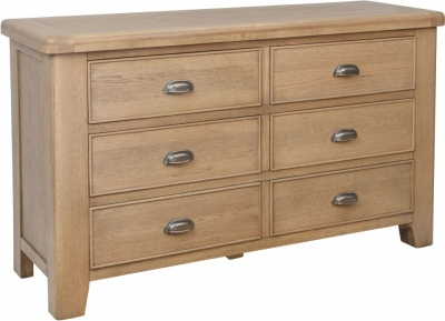 Hatton Oak 6 Drawer Chest