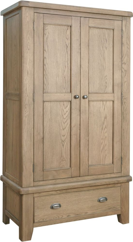 Hatton Oak 2 Door Wardrobe