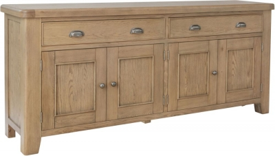 Hatton Oak 4 Door 2 Drawer Sideboard