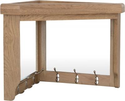 Hatton Oak Corner Hall Bench Top
