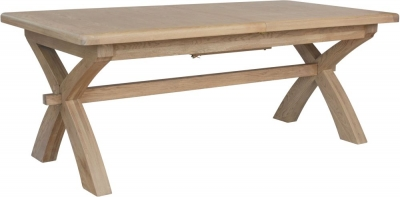 Hatton Oak Cross Leg 200cm-250cm Extending Dining Table