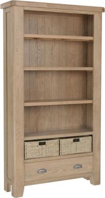 Hatton Oak Large Bookcase