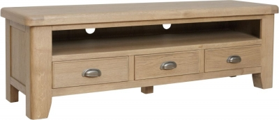 Hatton Oak Large TV Unit