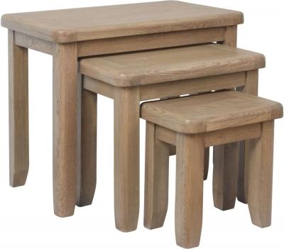 Hatton Oak Nest of 3 Tables