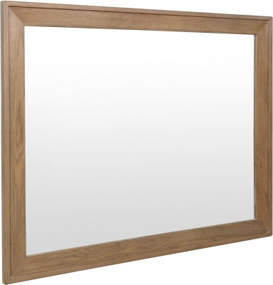 Hatton Oak Rectangular Wall Mirror - 120cm x 95cm