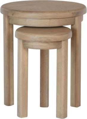Hatton Oak Round Nest of Tables