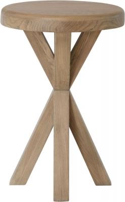 Hatton Oak Round Side Table