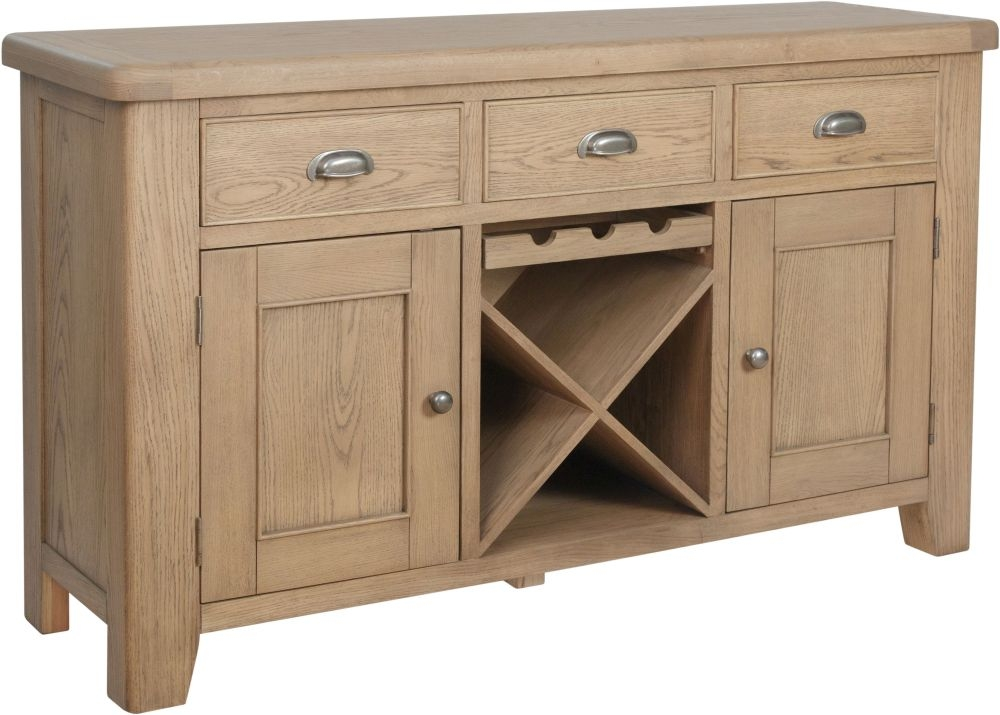 Hatton Oak 2 Door 3 Drawer Sideboard
