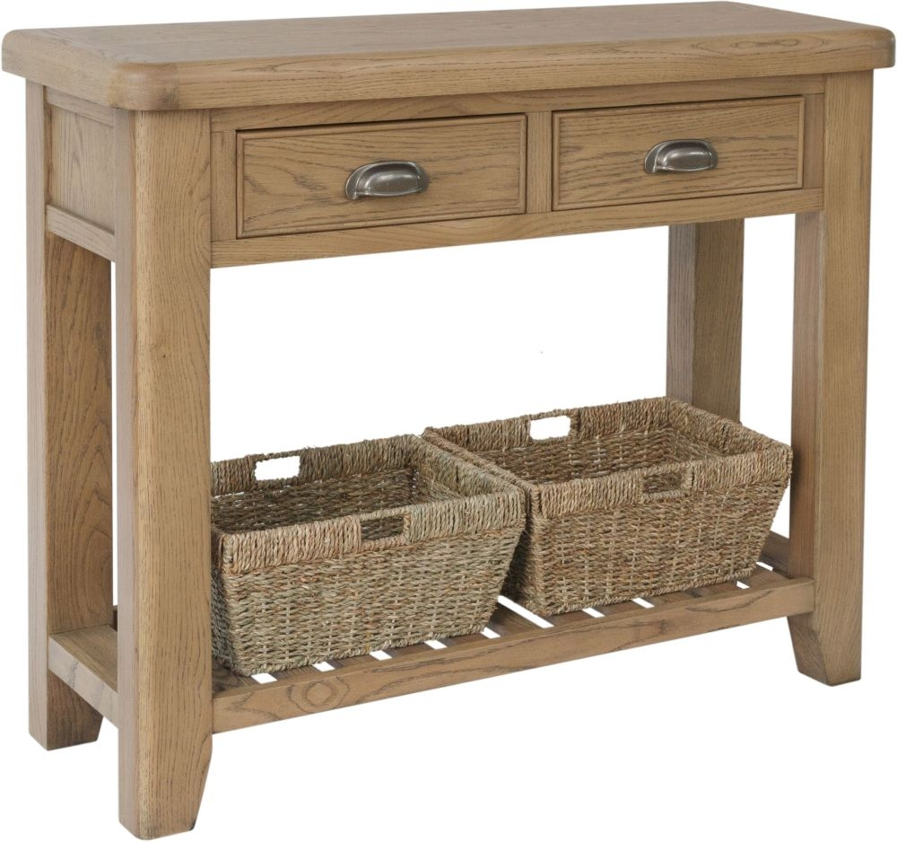 Hatton Oak Console Table