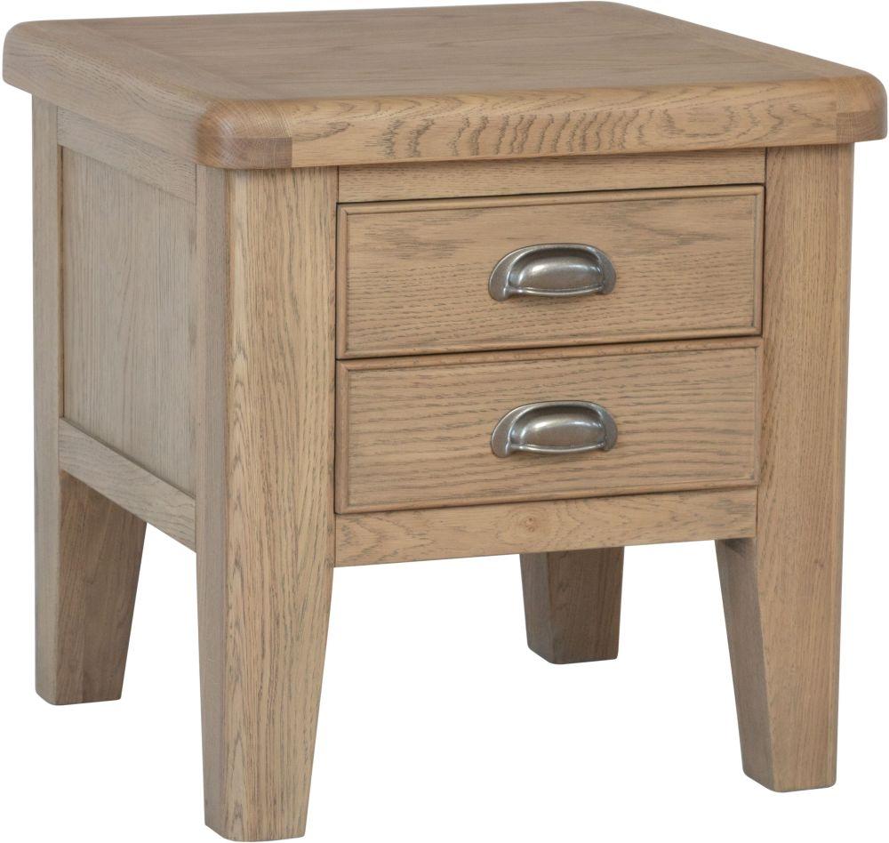 Hatton Oak Lamp Table