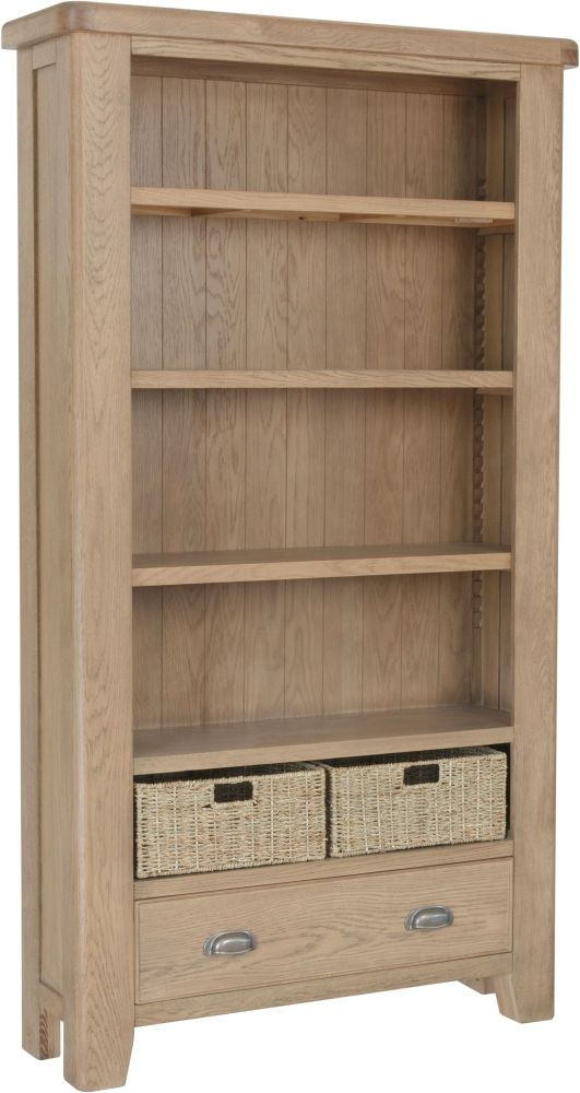 Hatton Oak Large Bookcase