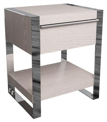 Laguna Grey Oak 1 Drawer Side Table